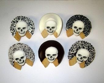 24 DAY Of The Dead Fortune Cookies, Sugar Skulls, Dia de los Muertos Skulls, Dia de los Angelitos Skulls, Dia de los Difuntos, Halloween
