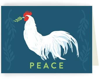 HOLCBOX: Peace Chickens - Box of 8 Holiday Cards