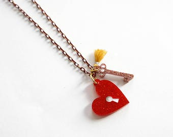 Secret Heart Necklace / Love Talismans Collection.