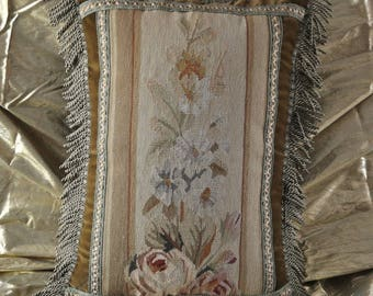 16″ x 22″ Handmade Gobelin Tapestry Weave Wool Aubusson Pillow Case / Cushion Cover 12980022