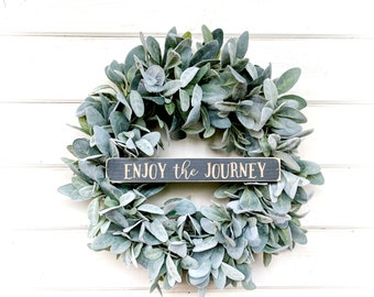 New 2018-Lambs Ear Wreath-Farmhouse Wreath-Fixer Upper Decor-Farmhouse Decor-Housewarming Gift-Greenery Wreath-Door Wreath-Home Decor-Wreath