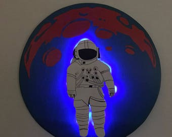 Astronaut on the Moon Brand New Sign