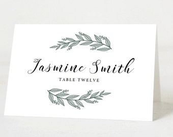 Wedding Name Cards Etsy - Wedding name tag template