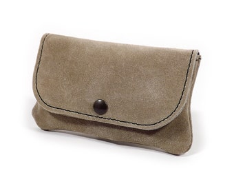 Beige leather men wallet