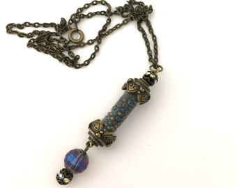 Mermaid Seeds Necklace- One of a kind handmade whimsy