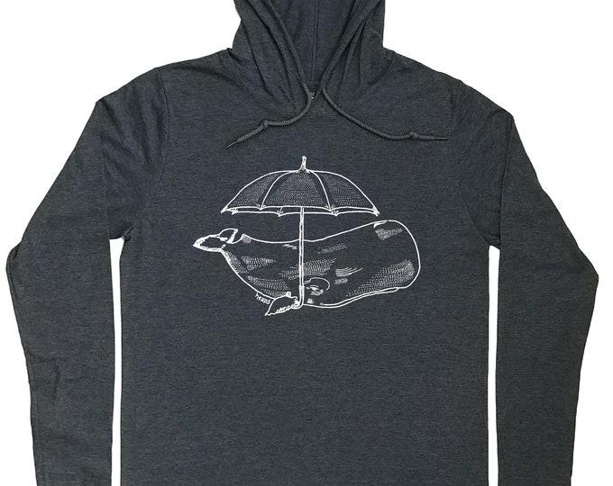 Hoodies for Men - Whale Hoodie - Umbrella Tee - Funny Nautical Tee - Nautical T Shirt - Funny Whale Tee - Hoodie for Men Hoodie T Shirt Men