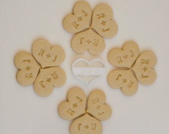 Custom Wedding Initials Heart Cookie Cutter