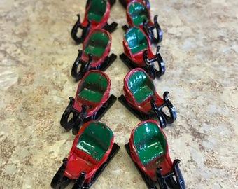 Miniature Christmas Sleighs, Vintage