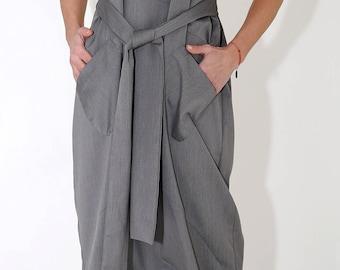 New Designer Romper / Paradox / Belted Jumpsuit / Gray Romper / Women's Jumpsuit / Black Jumpsuit / Zipper Jumpsuit  PP0380