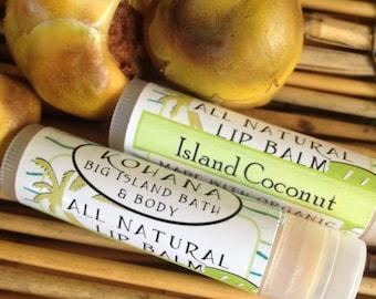 THREE Island Coconut Lip Balms-Organic Beeswax-Made in Hawaii