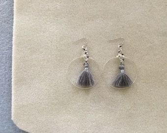 """2 & 1/2"""" long Hoop Earrings."""