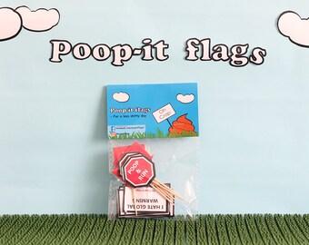 Poop-it flags - 1 bag
