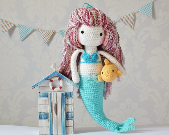 Free Crochet Amigurumi Mermaid Pattern : Crochet amigurumi mermaid pattern only pdf instant download