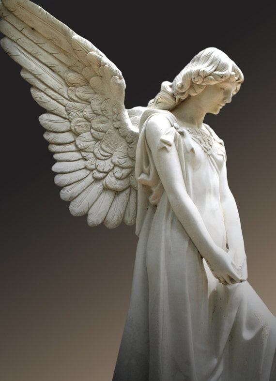 Angel Series (5 x 7 photographic greeting card - blank inside, with envelope)