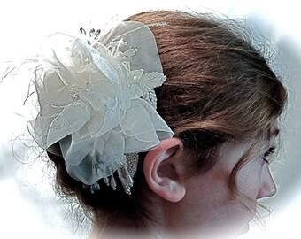 Ivory Rose Bridal Hairpiece Wedding Accessories B-123