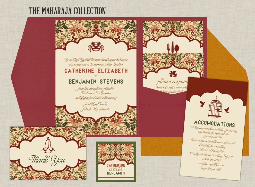 Maharaja Collection Indian Wedding Invitation