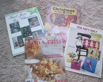 Lot of 4 - Felting, Sewing, Baking, Qwik-Knots, Mosaic Tile, Dried Florals, Kids Crafts - Dates Ranging from 1979 to 1995