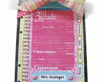 Teacher Gift Clipboard Choice of Kindergarten, 1st, 2nd, 3rd, 4th, 5th or 6th grade.
