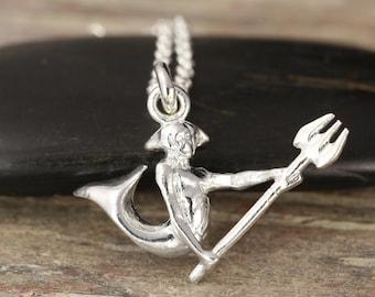 Aquarius zodiac pendant in Sterling silver - Zodiac necklace, zodiac jewelry, astrology