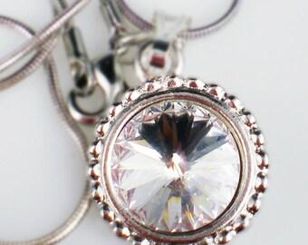 Crystal Rivoli Rhinestone Necklace Swarovski Jewelry