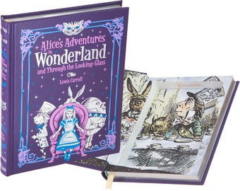 Hollow Book Safe - Alice's Adventures in Wonderland by Lewis Carroll (Leather-bound) (Magnetic Closure)