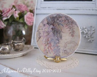 Wisteria Plate for Dollhouse