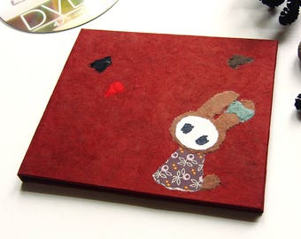 """CD-Case """"Bunny"""" cherry Red with bag"""