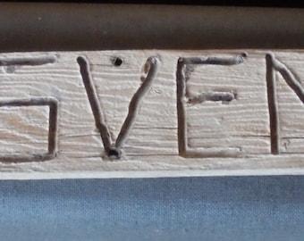 Now 20% off VINTAGE WOODEN SIGN, Grosvenor, fat huntsman, Utah Arch, trail, hiking, hand carved