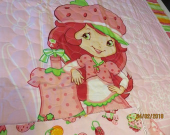 Strawberry Shortcake quilted panel  1 available  Free Shipping
