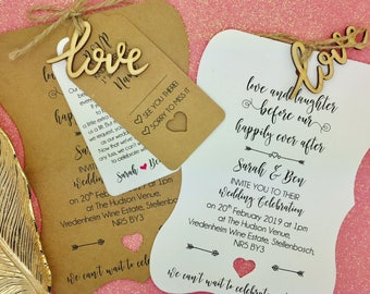 Love Laughter and Happily Ever After, Rustic Wedding Invitation Bundle