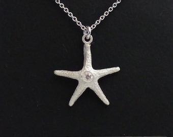 Fine silver (99.9%) Starfish Pendant