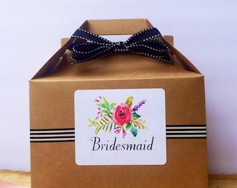 Bridesmaid gift box/Will you be my bridesmaid?/ Maid of Honor gift box / bridesmaids gift/  Thank you gift