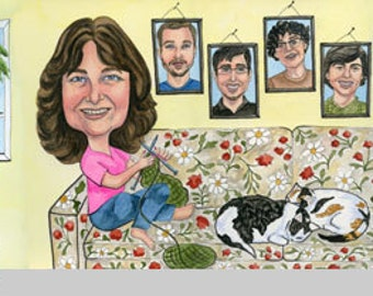 Painted Profile Avatars and Timeline Cover Caricatures for Facebook and Social Media