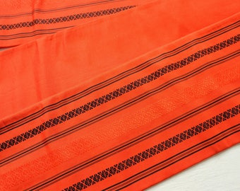 Vintage Japanese Hanhaba Obi Belt Orange M98