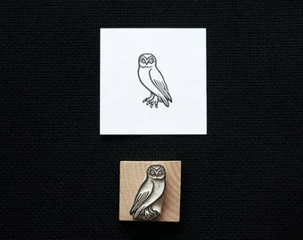 Little Owl - Hand-Carved Rubber Stamp