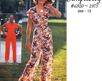 Simplicity 6920 Misses Wrap Top and Pants - Make it in a Jiffy - Easy Cut ~ Easy Sew - UNCUT - Size 12 - Vintage 1975