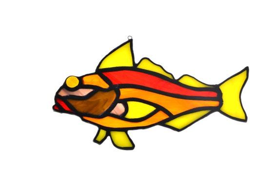 Cm Orange Yellow Glass Fish Ornament