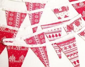 Nordic style handmade christmas bunting