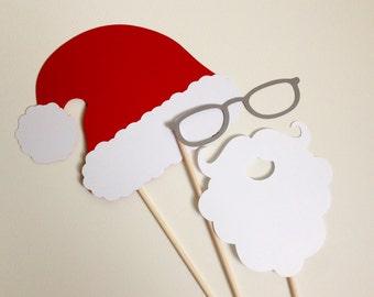 Santa Claus Photo Booth Props . Santa Photo Booth Props . Santa Claus . Santa . Christmas Photo Booth Props . Christmas . Set of 3
