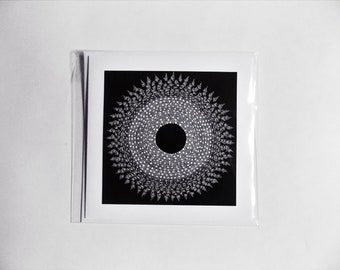 Moonflower, Greeting Card