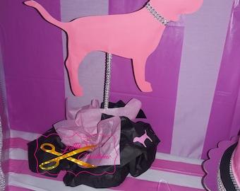 Pink Centerpiece, Victoria Secret Pink Centerpiece, Pink Dog Centerpiece, Centerpiece, vicky, victoria secret centerpiece