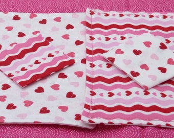 American Girl Pink Hearts Placemats ***