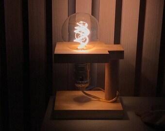 Natural Solid Wood Mood Lamp / Night Light