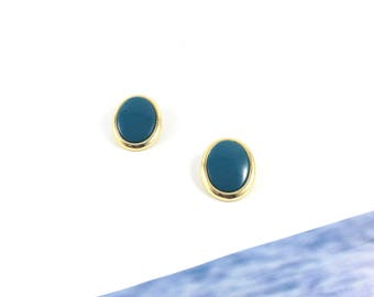 Oval Sprout Bahama 70s Vintage Clip-on Earrings