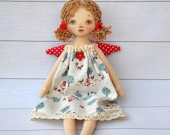 Textile doll, Tilda doll ,Tilda angel,