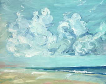 Beach Day - limited edition giclee print of an original oil painting