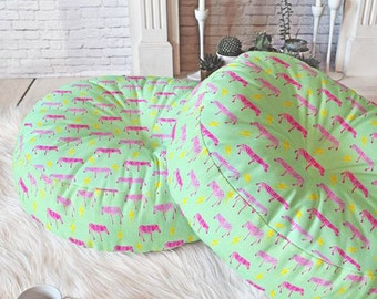 Gold Unicorns blue Large Floor Pillow Cushions Unicorn
