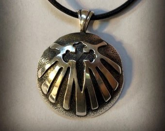 Camino de Santiago Cross of St. James Silver Shell and Cross Pendant Camino Jewelry