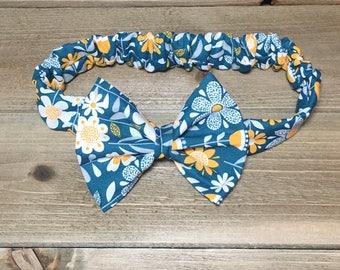 Flower Headband- Flower Bow; Flower Headwrap; Flower Hair Bow; Flower Clip; Flower Nylon; Toddler Headband; Newborn Headband; Bow Headband
