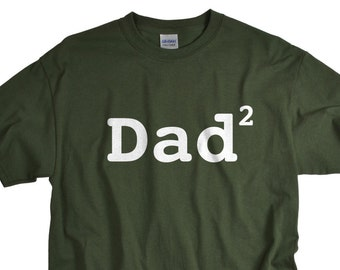 Gifts for Men - Dad 2 of children - Father of Two Children Funny T-Shirt Dad 2 Shirt - Tee  - Gift for Father - Dad Tshirt